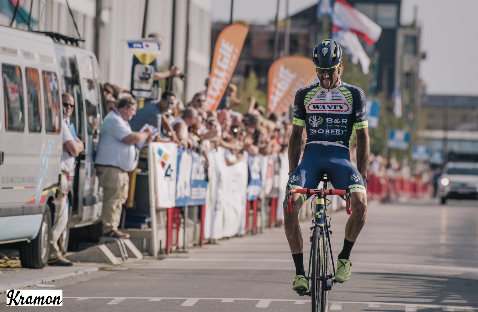 Guillaume Van Keirsbulck takes the win in Antwerp Port Epic
